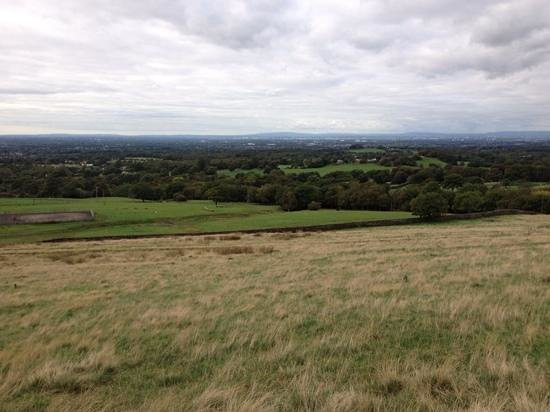 Lyme Park: The view over to Manchester