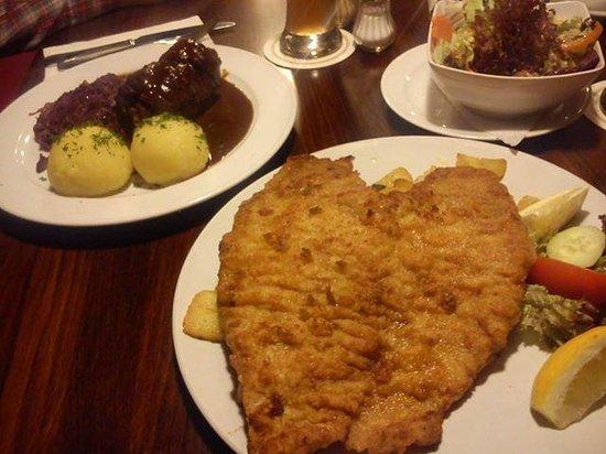 Restaurant Scheune: panierte schnitzel