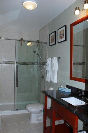 Quality Inn: Standing Shower