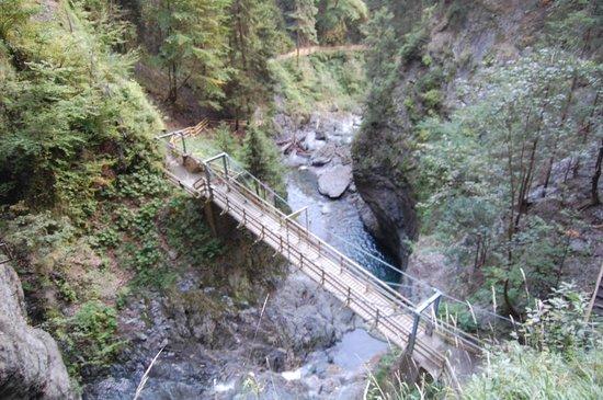Les Gorges de la Diosaz : View down the gorge
