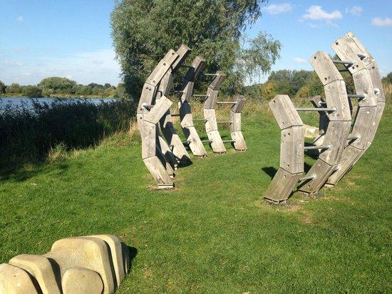 Watermead Park : The dinosaur ribs climbing frame