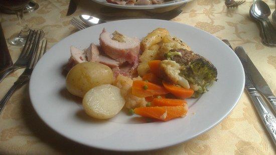 Gwili Railway: chicken breast fdinner