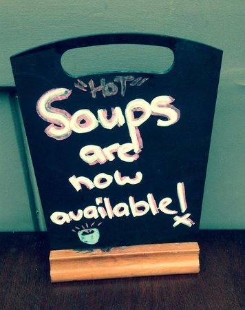 124 Cafe: Home-made soups now available