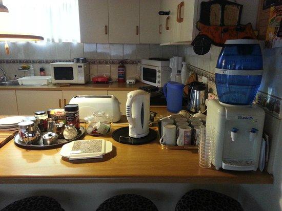 Island Lodge : Breakfast station