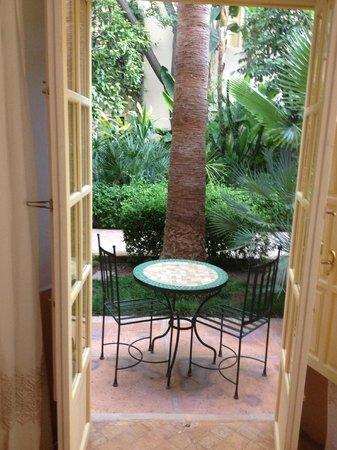 Les Jardins de la Medina: terrasse de la chambre