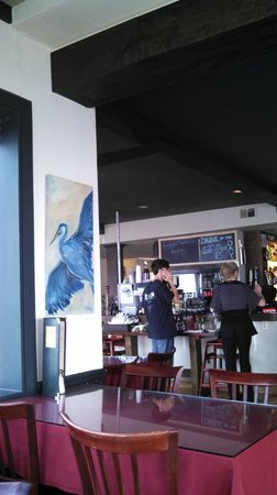 VIa Birch Bay Cafe and Bistro: Blue Heron Artwork and Good Food