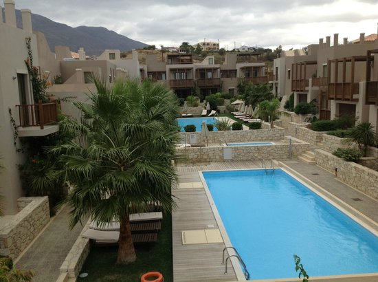 Plakias Resort: Interior gardens and the pools