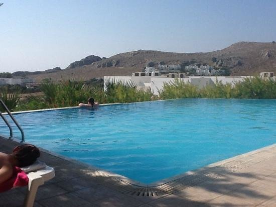 Lindos Gardens Resort Complex: view from the infinity pool