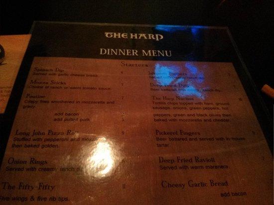 Sault Ste. Marie, แคนาดา: menu!