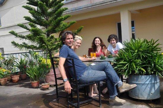 Kathmandu Madhuban Guest House: on the terrace