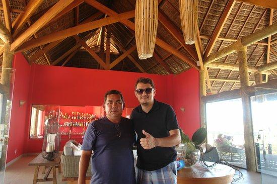 Carnaubinha Praia Resort: Empresário Chico Corinto e o humorista Amauri Jucá