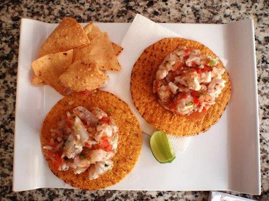 Blue Fish Cabo Seafood : tostadas bluefish cabo