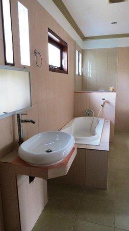 Family House Hotel & Cafe: bagno immenso ma povero