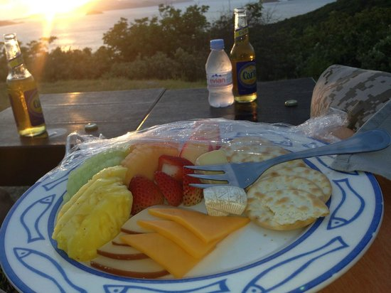 Peter Island Resort and Spa : Snack at sunset