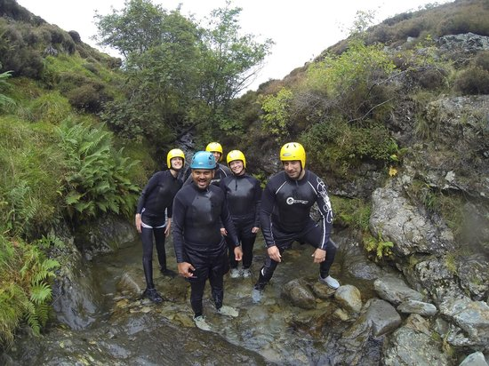 Keswick Adventure Centre: With my group in the adventure