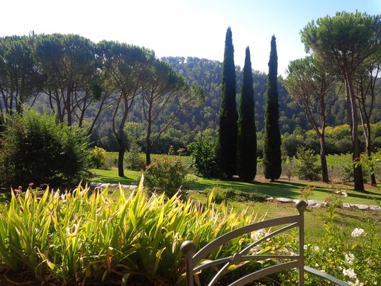 Castello di Spaltenna Exclusive Tuscan Resort & Spa: view from the breakfast patio