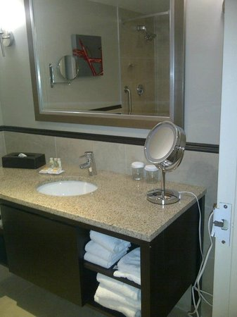 Crowne Plaza Gatineau-Ottawa: Clean and reasonably opulent bathroom with nice soaker tub