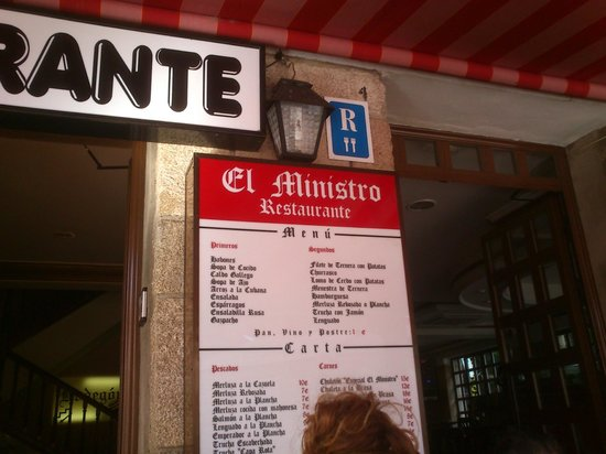 Restaurante El Ministro: CARTA