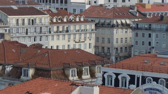 Pensao Praca da Figueira : vue de la fenêtre
