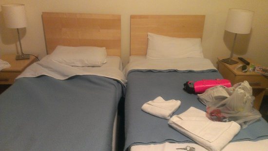 "Caring Hotel : beds after they ""clean"" in your room"
