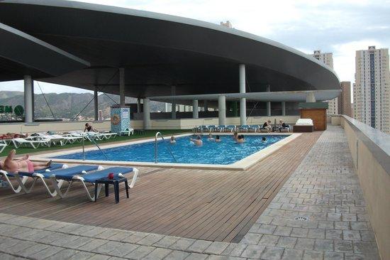 La Estacion Hotel: Pool area quiet and clean.