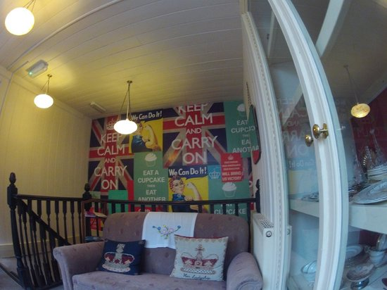 Old Time Vintage Tea Rooms: Wall Behind Sofa I Lounged On While Feasting On  Shepherds