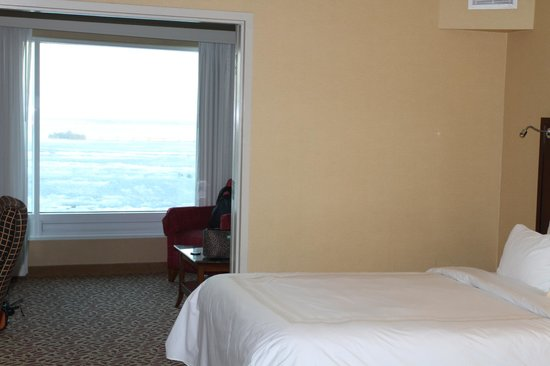 Niagara Falls Marriott Fallsview Hotel & Spa: The window in our room