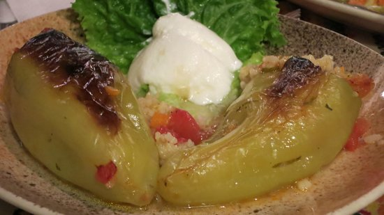 Hotel Gurko: Stuffed peppers in the restaurant