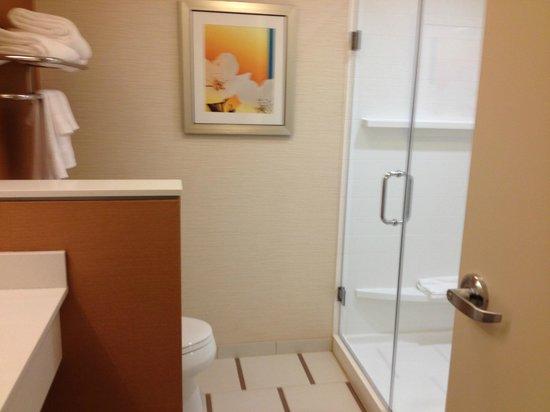 Fairfield Inn & Suites Knoxville West: Walk in Shower