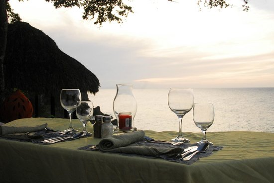 The Palace at Playa Grande: The view of the beach and sunset from our  favorite dinner spot