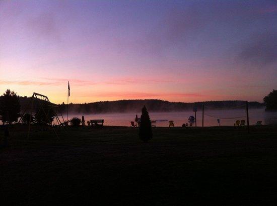 Sunrise at Oxtongue Lake Cottages