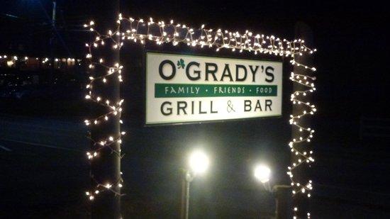 O'Grady's Grill and Bar : Panneau extérieur