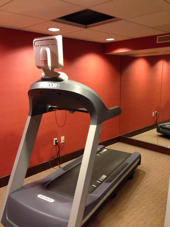 "Crowne Plaza Chicago - The Metro: Ceiling too short for a 6' 3"" person to stand on treadmill without removal of ceiling tile!"