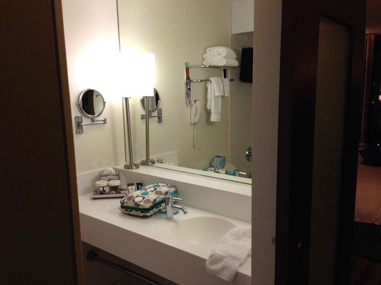 Crowne Plaza Chicago West Loop: functional, clean, modern, compact bathroom