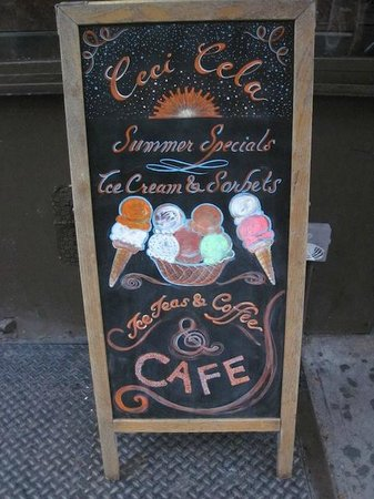 Ceci-Cela: Summer Ice Cream Chalk Board