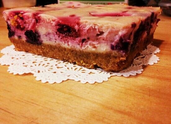 Bread and Roses Bakery: Mixed berry cheesecake