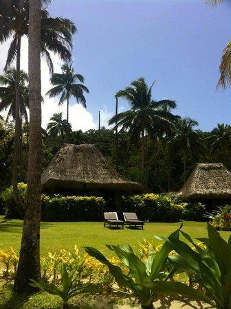 Qamea Resort And Spa Fiji: Looking back at the resort