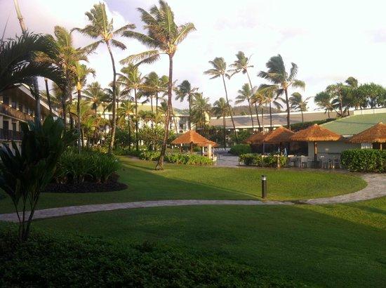 Kauai Beach Resort: View from room, pool areas.