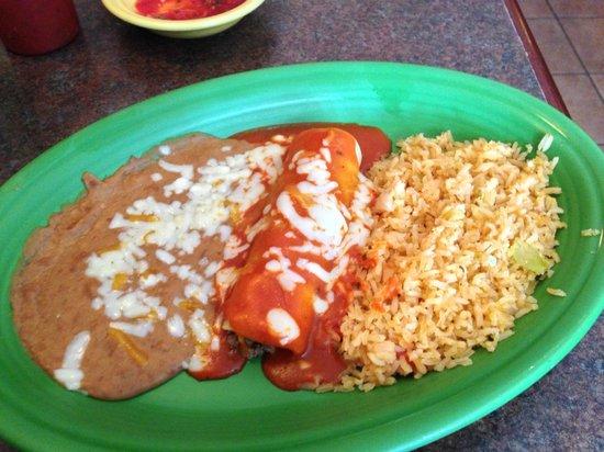 Mi Jalisco: Lunch Special Beef Enchilada - delicious!