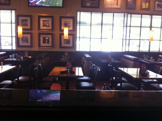 BJ's Restaurant & Brewhouse: One side of BJ's was empty and still a long wait for food