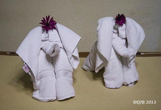 Hotel Regis Panajachel: Cute Elephant Towels