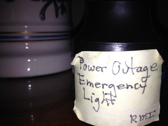 Robert Morris Inn : Flashlight on the nightstand, for power outages