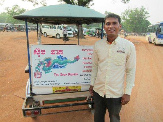 Pavillon d'Orient Boutique-Hotel: tuk tuk driver at Angkor Wat