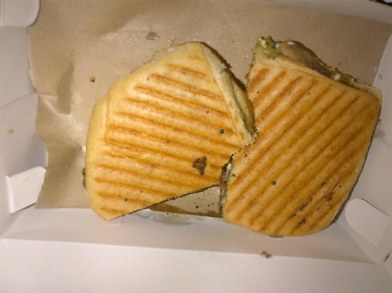 Warung Kecil: My take away dinner : Mushroom Panini ! BEST !