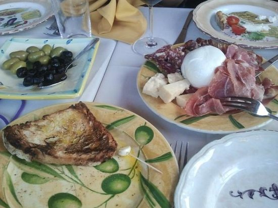 Spadaro : antipasto and burrata