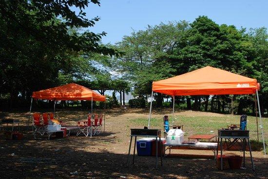 Shinkiba Park: 新木場埠頭公園 バーベキュー広場④