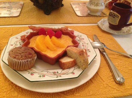 Red Bluff Cottage : Delicious breakfast