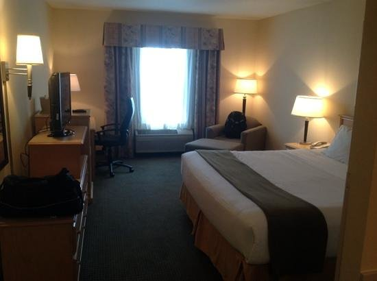 Holiday Inn Express Bend: View of King Room Sept 2013