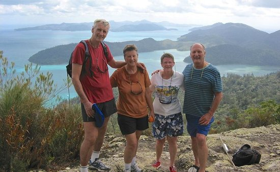 Whitsunday Great Walk: Made it to the top! Pic Karen Roser