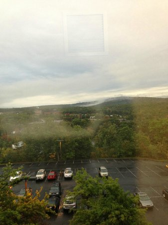 Holiday Inn Wilkes Barre East Mountain: View over parking lot in morning
